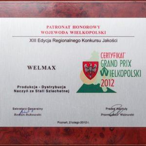 welmax certyfikaty